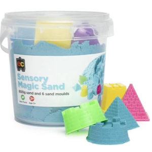 Blue Sensory Magic Sand with Moulds 600g