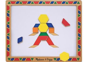 M&D Wooden Magnetic Pattern Blocks