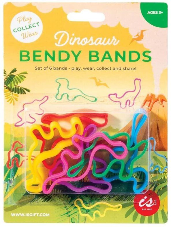 IS Dinosaur Bendy Bands 6pk