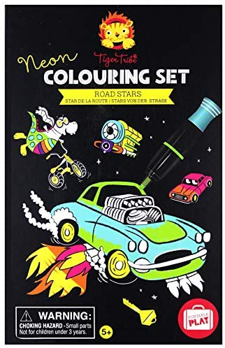 Tiger Tribe Road Stars Neon Colouring Set