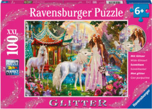 Ravensburger Princess Unicorn Puzzle Glitter 100pc