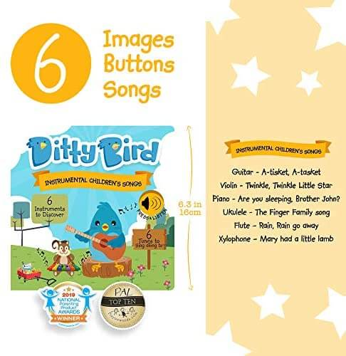 Ditty Bird Instrumental Children's Songs Book