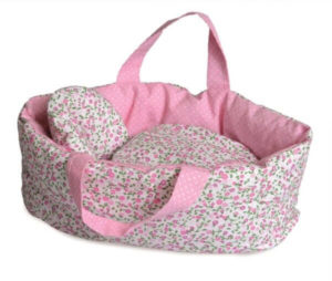 Large Pink Floral Carry Cot Egmont