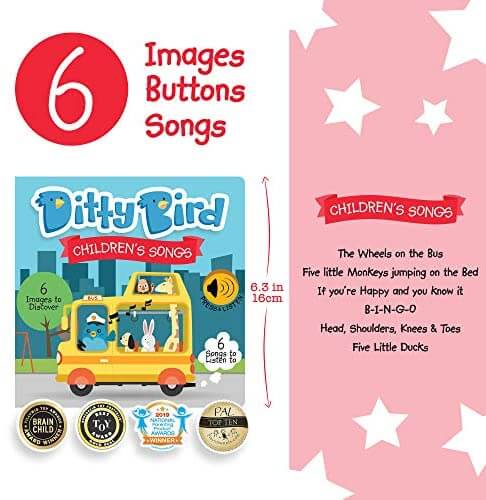 Ditty Bird Children's Songs Sound Book