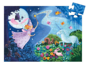 Djeco Fairy & Unicorn Silhouette Puzzle 36pc