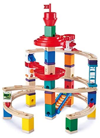 Hape Quadrilla Super Spirals 129pc Wooden Marble Run