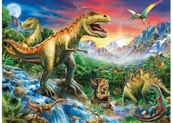Ravensburger Time Of The Dinosaurs Puzzle 100 Pc