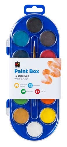 Paint Box 12 Disc Set with Brush