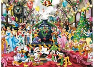 Ravensburger Disney Christmas Train Puzzle 500pc