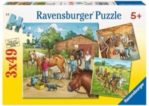 Ravensburger A Day with Horses Puzzle 3x49 Pc