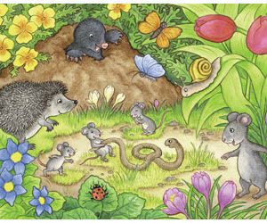 Ravensburger Animals In Our Garden Puzzle 2x12pc