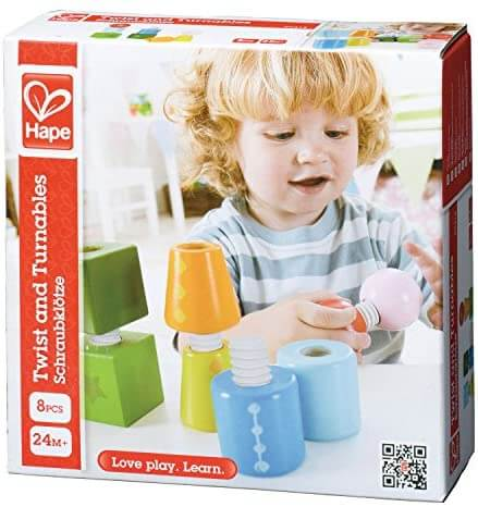 Hape Twist And Turnables 8 Pieces