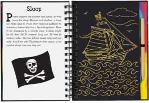 Pirates Scratch and Sketch Trace Along Book