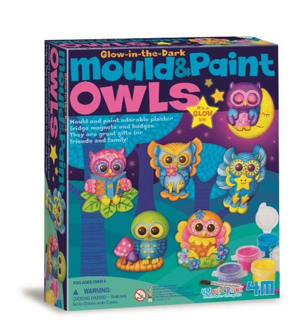 4M Glow Owls Mould & Paint