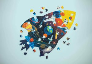 Mudpuppy Outer Space Shaped Puzzle 300pc