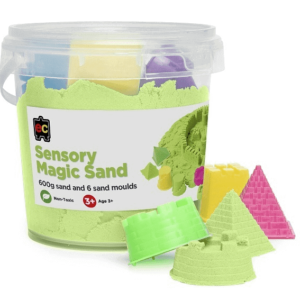 Green Sensory Magic Sand with Moulds 600g