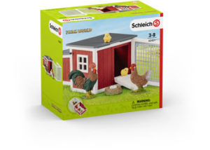 Schleich Farm World 42421 Chicken Coop with Chickens