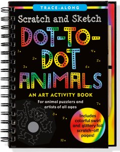 Scratch & Sketch Dot to Dot Animals Book