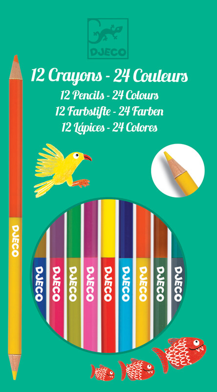 Djeco DJ9758 12 Double Ended Pencils