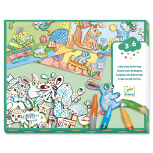 Djeco DJ8997 Animals & Shapes Art Kit