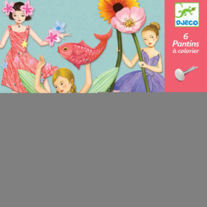 Djeco DJ9654 Fairies Jumping Jacks Colouring