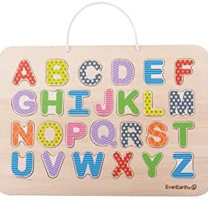 EverEarth Magnetic Alphabet Puzzle & Drawing Board