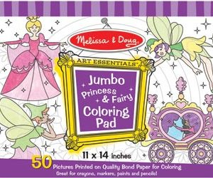 M&D Jumbo Colouring Pad Princess & Fairy