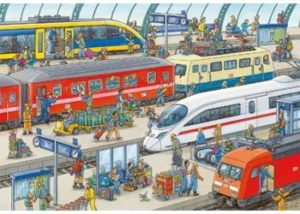 Ravensburger Busy Train Station Puzzle 2x24 pc