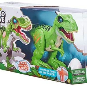 Robo Alive T-Rex Attacking Dinosaur with Slime