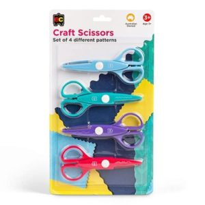 Craft Pattern Scissors 4pk