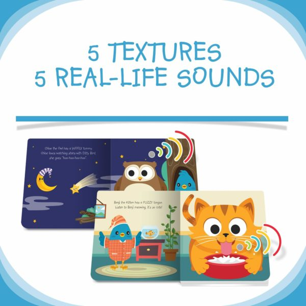 Ditty Bird Cute Animals Touch, Feel & Listen Book
