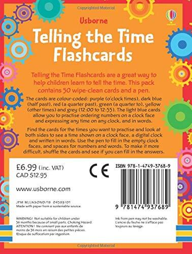 Usborne Telling the Time Flashcards