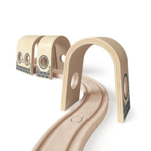 Hape Triple Tunnel Wooden Train Accessories