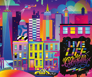 Ravensburger Live Life Colorfully NYC Puzzle 1000pc