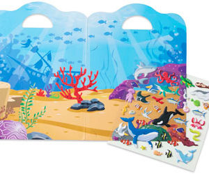 M&D Ocean Reusable Puffy Sticker Play Set 40pc