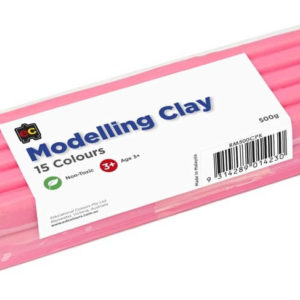 Pink Modelling Clay 500g