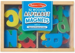 M&D Alphabet Magnets In A Box Of 52