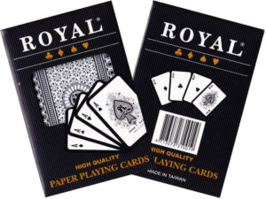 Royal Plastic Coated Paper Playing Cards Single