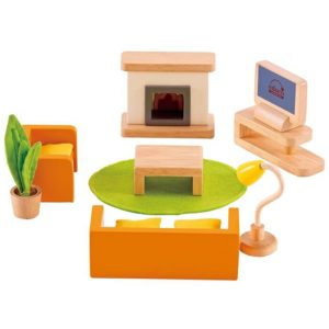 Hape Family Media Room All Seasons Dollhouse