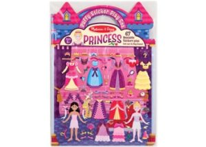 M&D Reusable Puffy Stickers Princess