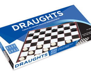 Blue Opal Draughts Game