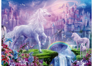 Ravensburger Unicorn Kingdom Glitter Puzzle 100pc