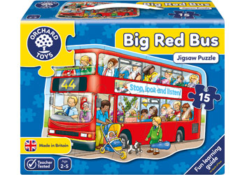 Orchard Toys Big Bus Shaped Floor Puzzle 15pcs