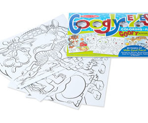 M&D – Googly Eyes Coloring Pad – Goofy Animals