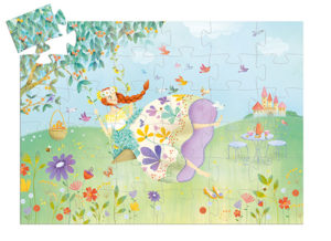 Djeco DJ7238 The Princess Spring Silhouette Puzzle 36pcs