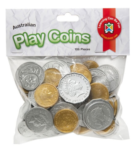 Australian Play Coins 106pc
