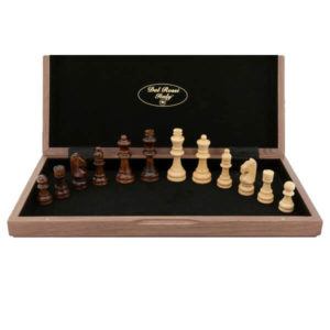 Dall Rossi Chess Set Walnut 30cm