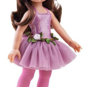 Paola Reina Doll With Pink Flower Head Band