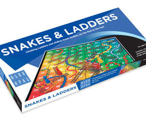 Blue Opal Snakes and Ladders Game