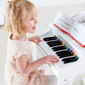 Hape Deluxe Grand Piano White 3pcs